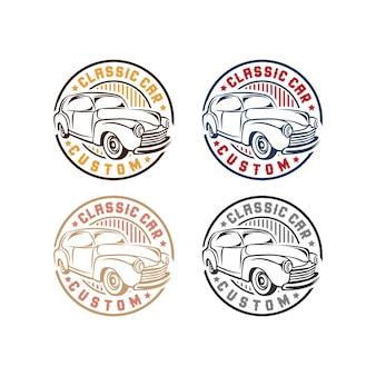 Set di badge per auto d'epoca classica