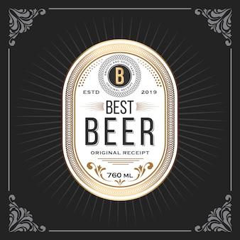 Cornice d'epoca classica per banner di etichette di birra