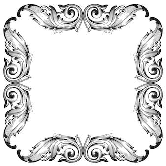 Filigrana decorativa barocca classica.