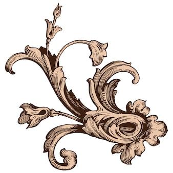 Classico set barocco di elementi vintage per il design. calligrafia a filigrana elemento decorativo di design.