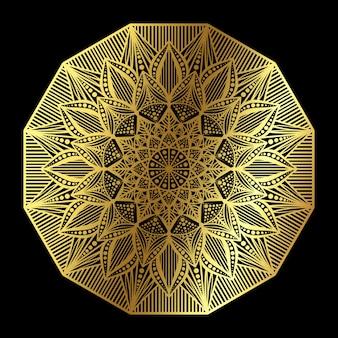 Modello classico mandala dorato