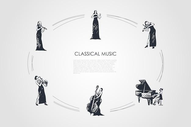 Ciclo disegnato a mano di musica classica