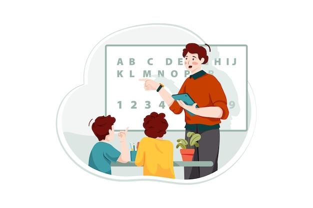 Concetto di illustrazione di classe