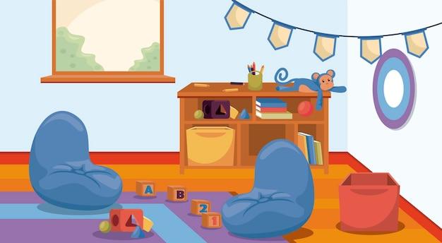 Scena della scuola materna in aula