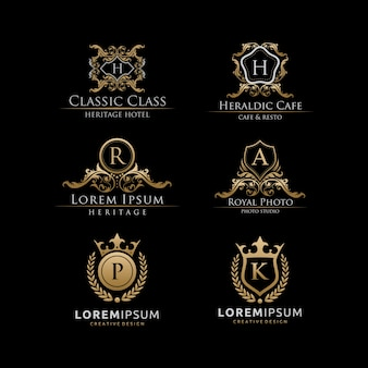 Classy 6 set luxury logo