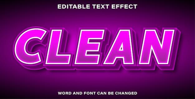 Pulisci l'effetto del testo