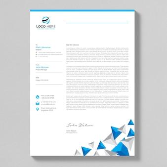 Pulire il design della lettera blu