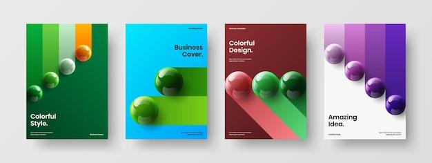 Composizione del concetto di design vettoriale dell'opuscolo aziendale pulito