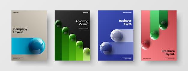 Collezione di illustrazioni di design vettoriale di identità aziendale pulita