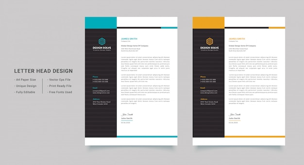 Carta intestata dell'azienda pulita