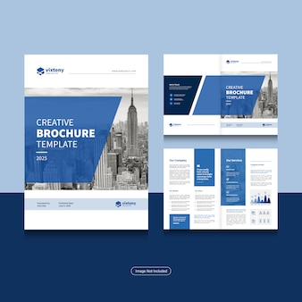 Modello di progettazione brochure aziendale pulito pieghevole in formato a4.
