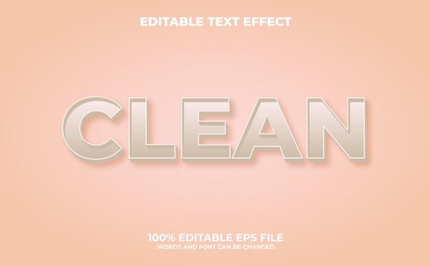 Pulisci l'effetto del testo modificabile con uno stile moderno e astratto vettore premium