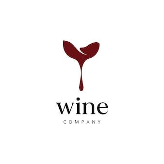 Ispirazione per il design del logo dell'azienda vinicola pulita ed elegante