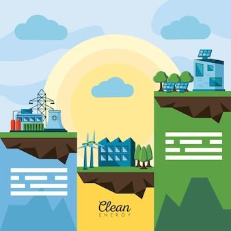 Scene di energia pulita
