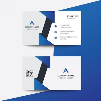 Pulito design piatto nero blu scuro premium corporate business card visita