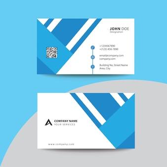 Biglietto da visita premium corporate design nero sky blue premium