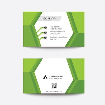 Pulisca il biglietto da visita di affari corporativi gradiente verde normale piano di progettazione piana