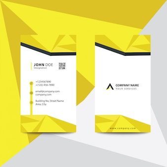Biglietto da visita di affari corporativi di stile di gradiente giallo di progettazione piana pulita di stile