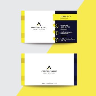 Biglietto da visita pulito flat premium minimal style yellow black business