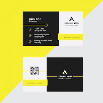Biglietto da visita premium corporate yellow black premium