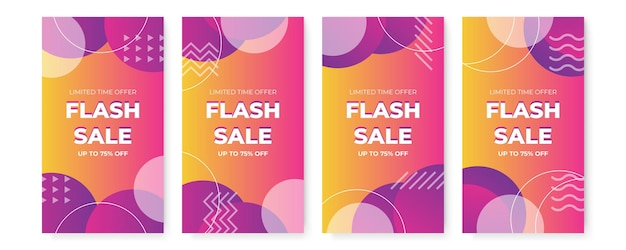 Pulisci il modello di storia moderna di instagram. promozione del modello di banner sconto vendita flash