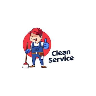 Icona di lucentezza delle pulizie di servizio pulito logo
