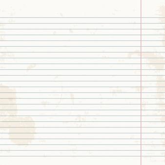 Foglio pulito di quaderno a strisce.