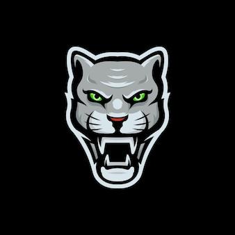 Logo esport pulito e semplice, logo ghepardo, logo animale selvatico, vettore logo animale