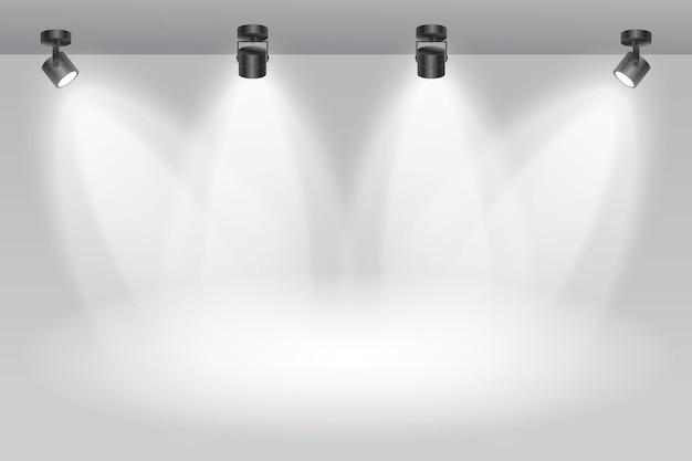 Carta da parati pulita delle luci spot