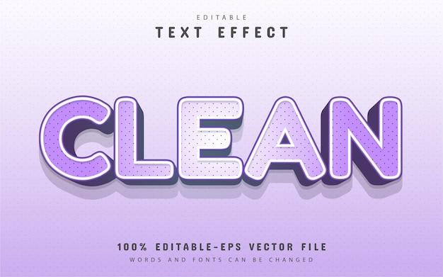 Testo pulito, stile cartone animato con effetto testo a punti
