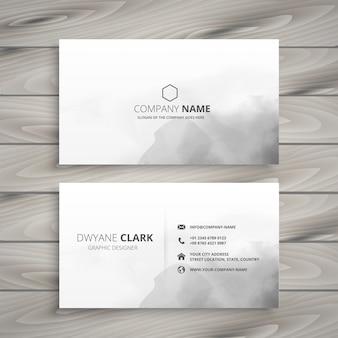 Design pulito biglietto da visita bianco