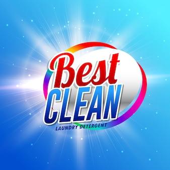 Il prodotto di pulizia o il modello di concetto di progettazione di imballaggio detersivo per il detersivo