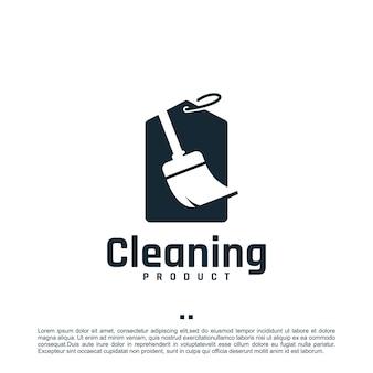 Prodotto per la pulizia, ispirazione per il design del logo