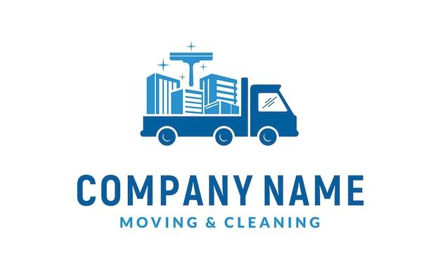 Servizio di pulizia e design del logo in movimento