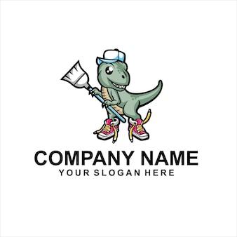 Vettore del logo della squadra di pulizia