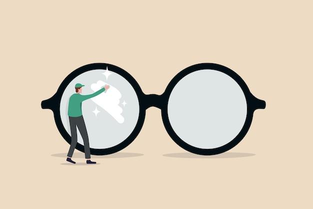 Chiara visione aziendale o concetto di prospettiva aziendale