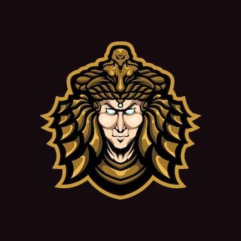 Logo della mascotte di cleopatra