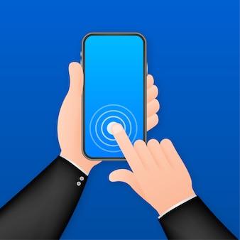 Fare clic sull'illustrazione dello smartphone