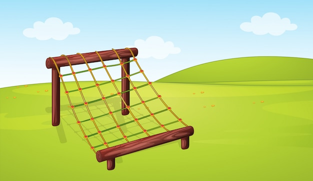 Attrezzature da arrampicata nel parco giochi
