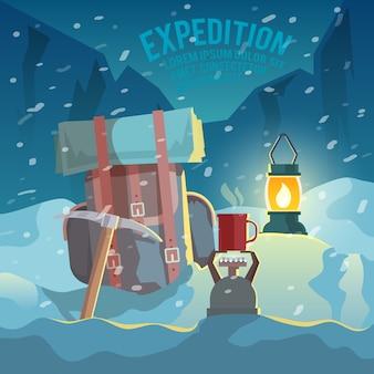 Illustrazione piatta arrampicata
