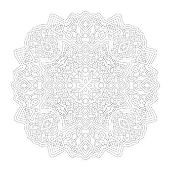 Clip art per libro da colorare con design lineare
