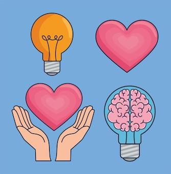 Clipart di brainstorming creativo