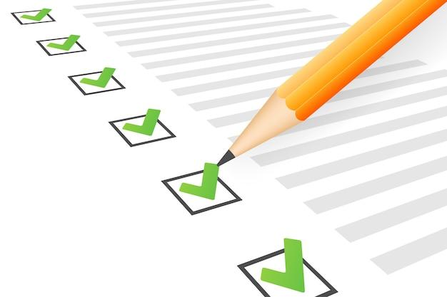 Appunti con illustrazione icona elenco di controllo