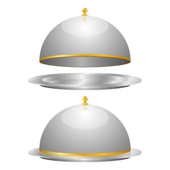 Illustrazione di progettazione stabilita della campana di vetro isolata