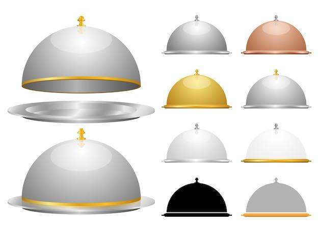 Set cloche, isolato su sfondo bianco