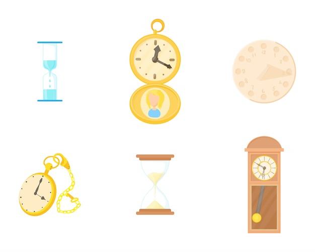 Set di icone di orologio