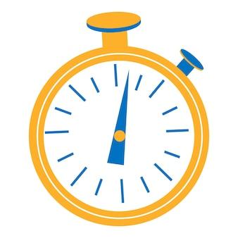 Progettazione grafica del timer dell'orologio. inizio, fine. gestione del tempo. icona di vettore del cronometro isolato su priorità bassa bianca.