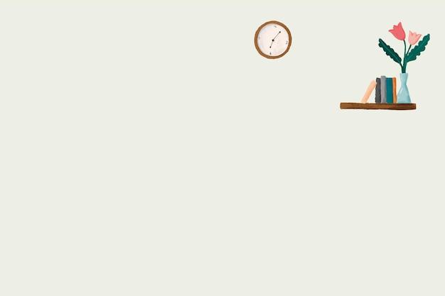 Orologio su sfondo muro disegno carino vettoriale