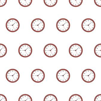 Modello senza cuciture di orologi. guarda l'illustrazione del tema dell'orologio