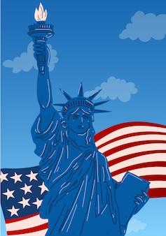 Primo piano della statua della libertà